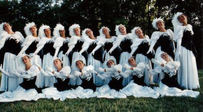Year: 1992; The Colourguard looking fabulous