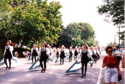 Year: 1990; More of the colourguard