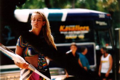 Year: 1997; One of the Quebecoises girls who, in this picture, looks a lot like Rebecca Thomas