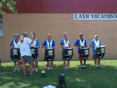 Year: 2001; Snare line with Jamie in Charlotte, NC